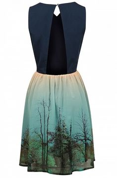 Gorgeous neckline and back on this Louche Tree Print Dress at JOY 4f62d96de