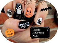 Classic Halloween nails