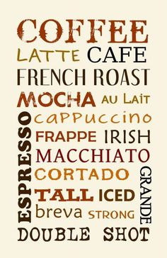 Free Subway Arts Kitchens Printable coffee | Coffee Types cute over a coffee bar