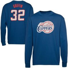 a172691c39e6 Majestic Blake Griffin LA Clippers Name   Number Long Sleeve T-Shirt -  Royal Blue