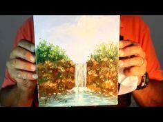 Como Pintar Paisagem com Cachoeira no Pincel - Passo a Passo | Professor Costerus - YouTube