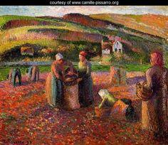 Potato Harvest I - Camille Pissarro - www.camille-pissarro.org