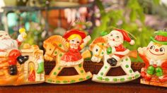 Vintage 60s Christmas ornament lot Retro mid by SycamoreVintage