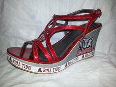 Alabama Crimson Tide Wedges by GeekGoddessDesign on Etsy