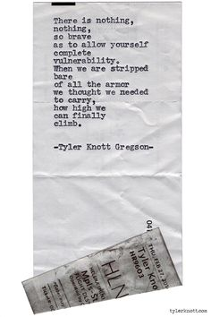 Typewriter Series #973 by Tyler Knott Gregson *It's official, my book, Chasers of the Light, is out! You can order it through Amazon, Barnes and Noble, IndieBound , Books-A-Million , Paper Source or...