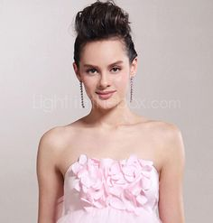 Empire Strapless Knee-length Tulle Over Satin Bridesmaid/ Wedding Party Dress  ... the bodice (i love this :D)