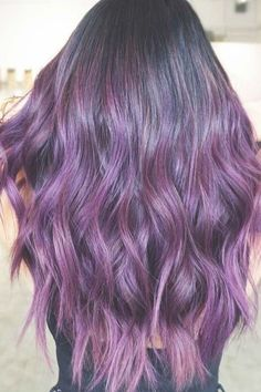 50 Cosmic Dark Purple Hair Hues For The New Image Deep Plum Balayage ❤️ Dark purple hair is quite bold, and that is a fact. But if to compare dark purple hues with purple hues, the former are more mature and sophisticated. Dark Purple Hair, Plum Hair, Short Dark Hair, Brown Ombre Hair, Very Short Hair, Short Straight Hair, Burgundy Hair, Ombre Hair Color, Purple Hues