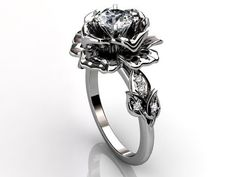 Unique wedding ring shaped like a rose