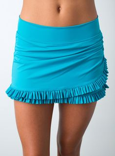 Ruffle Wrap Sky Skirt w/ Bottoms   Lime Ricki Swimwear