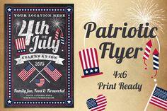 Chalk Patriotic Flyer by Lucion Creative on Creative Market