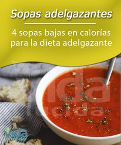 4 sopas adelgazantes Tea Recipes, Low Carb Recipes, Healthy Recipes, Food And Drink, Vegan, Meals, Cooking, Ethnic Recipes, Fotos Ideas