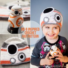 Star Wars BB-8 Inspired Hat - free crochet pattern by Katy McKinley at Wild and Wanderful. Adjustable size, age 10-adult.