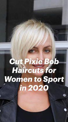 Short Pixie, Short Hair Cuts, Short Hair Styles, Pixie Bob Haircut, Long Pixie Hairstyles, Bob Haircuts For Women, Hair Beauty, Beautiful, Haircuts