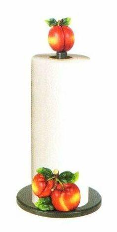 Paper Towel Rolls, Paper Towel Holder, Kitchen Themes, Kitchen Decor, Towel Holder Stand, Peach Decor, Peach Kitchen, Kitchen Paper Towel, Peach Colors