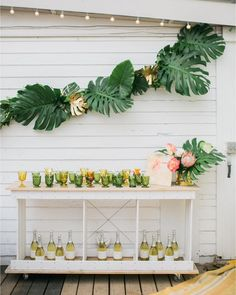 """2,161 Likes, 54 Comments - Inspired By This (@inspiredbythis) on Instagram: """"Now THIS is a cocktail bar! @beijosevents went all out tropical for their recent boho-holiday bash,…"""""""