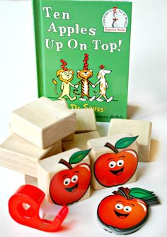 Ten Apples Up On Top Counting and Stacking. Simple Dr. Seuss book extension activity for toddlers and preschoolers!