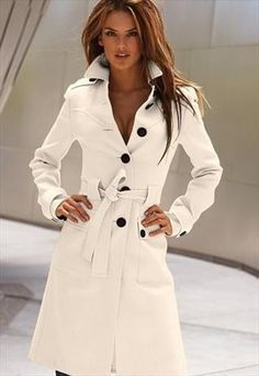 spring white trench coat elegant 4 colors final sale g946 from YRBcollection £54