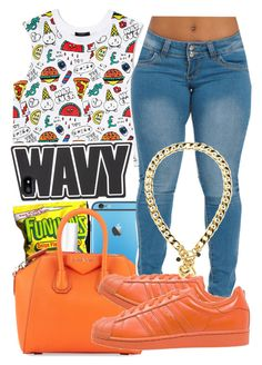 """""""Wavy~❤️✨"""" by birthdaygirl247 ❤ liked on Polyvore featuring Forever 21, Stila, Essie, Givenchy, adidas Originals and Juicy Couture"""