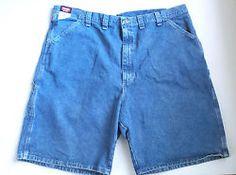 Wrangler Mens 44 Carpenter Denim Blue Jean Shorts Stonewashed  Loose Fit New