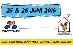 Roy en Martine Maters uit Klazienaveen doen samen met een groep vrienden en familie mee aan de HomeRide 2016, 500km fietsen van Maastricht naar Groningen.