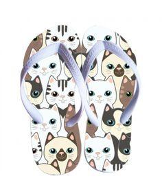 Chinelo personalizado Gato Fofo - Chinelos