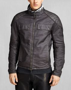 XMan Racing Blouson - Off Black Cotton Pure Motorcycle