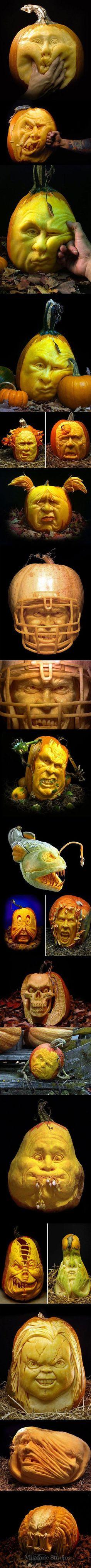 Amazing halloween pumpkin carvings!