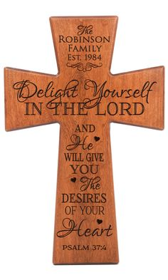 Delight yourself in the LordPsalm 37:4Personalized by Welovefamily
