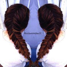 Dutch Fishtail or inverse fishtail braid hair tutorial . Click below for a DIY Tutorial :  https://www.youtube.com/watch?v=QxodG8aJBbU&list=UU8ouEGIBm1GNFabA_eoFbOQ
