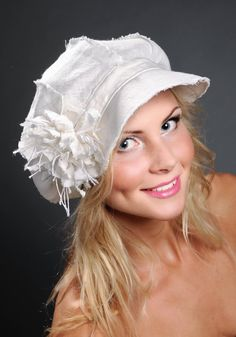Linen Hat for Women, Summer Hat for Women. $57.00, via Etsy.