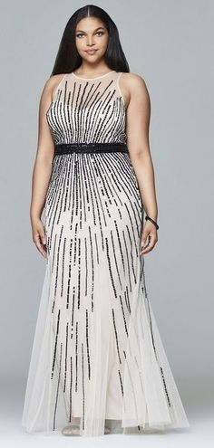 Plus Size Sequin Gown - Plus Size Fashion for Women #plussize
