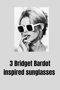 3 oversized square sunglasses styles inspired by the iconic legend that is Bridget Bardot. Buy Sunglasses Online, Sunglasses Women, Bridget Bardot, Oversized Sunglasses, Style Icons, Inspired, Retro, Fashion, Moda