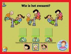 Wegen met kleuters op digibord of computer, kleuteridee / weight game for preschoolers in IWB or computer