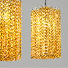 Masiero Aurea 1 Light Tall Pendant Finish: Chrome, Crystal Color: Amper, Crystal Type: Swarovski