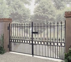 The Balmoral range of wrought iron drive gates will provide superior levels of security without compromising on aesthetics. Available in a range of sizes to suit many popular opening widths