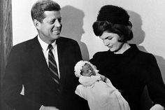 President John F. Kennedy and First Lady Jacqueline Kennedy with their son. Photo Credit: AP Photo.