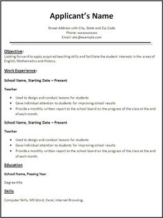 Free Online Resume Template  HttpWwwJobresumeWebsiteFree