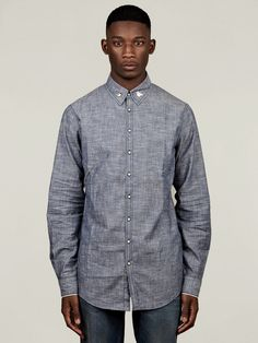 DSquared2 Men's Bird Pin Collar Oxford Shirt