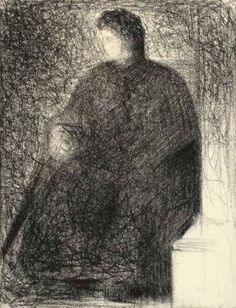 Georges Seurat (1859-1891)  La mère de l'artiste, assise