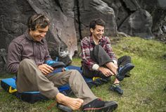 Chris Sharma and Paul Robinson traveling Iceland.