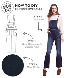 7ddf8fc1520d1 Click to learn how to DIY a Bootcut Overalls. Weekend Wear