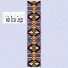 Mosaic 24Peyote Pattern by vidrotecido on Etsy, $2.00