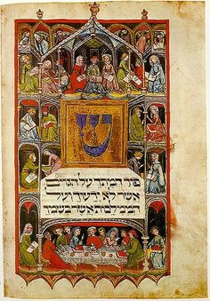 The Golden Haggadah was made around 1320 near Barcelona, for the use of a wealthy Jewish family. The holy text is written on vellum pages in Hebrew script, reading from right to left. Its stunning miniatures portray stories from the biblical books of 'Genesis' and 'Exodus' and scenes of Jewish ritual. Its extravagant use of gold-leaf in the backgrounds of its 56 miniature paintings is how it earned its name. It has numerous scenes such as Adam naming the animals and the creation of Adam and…