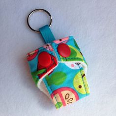 A personal favourite from my Etsy shop https://www.etsy.com/listing/203237806/cloth-diaper-cloth-nappy-mini-keychain
