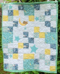Moon Bunny Cot Quilt | Free pattern from Bustle & Sew - you … | Flickr