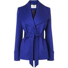 L.K. Bennett Danoe Wool and Cashmere Belted Coat ($290) found on Polyvore