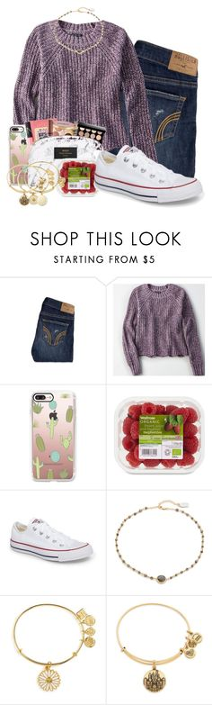 """""""Untitled #267"""" by sophiavarrrr ❤ liked on Polyvore featuring Hollister Co., American Eagle Outfitters, Casetify, Converse, Ela Rae and Alex and Ani"""