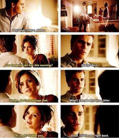 This was an adorable alternate universe but I still ship Delena all the way