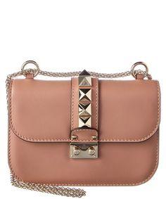 5958f1426297 Valentino Small Glam Lock Leather Chain Shoulder Bag Broche Chanel