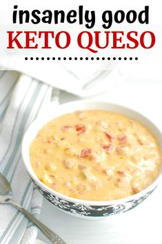 This keto queso recipe is the perfect low carb appetizer! Whether you need to make a holiday party appetizer or you just want a game day snack, you'll love this ultra-rich cheese dip. Definitely give this keto dip a whirl! Low Carb Appetizers, Appetizers For Party, Soup Appetizers, Keto Foods, Healthy Foods, Aperitivos Keto, Cena Keto, Queso Recipe, Keto Sauces